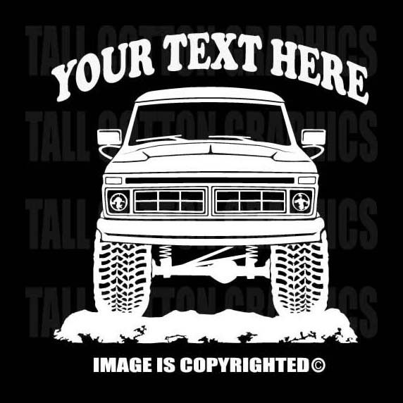F FSERIES FORD X Personalized Vinyl Decal Truck Or Car - Decals for trucks windows