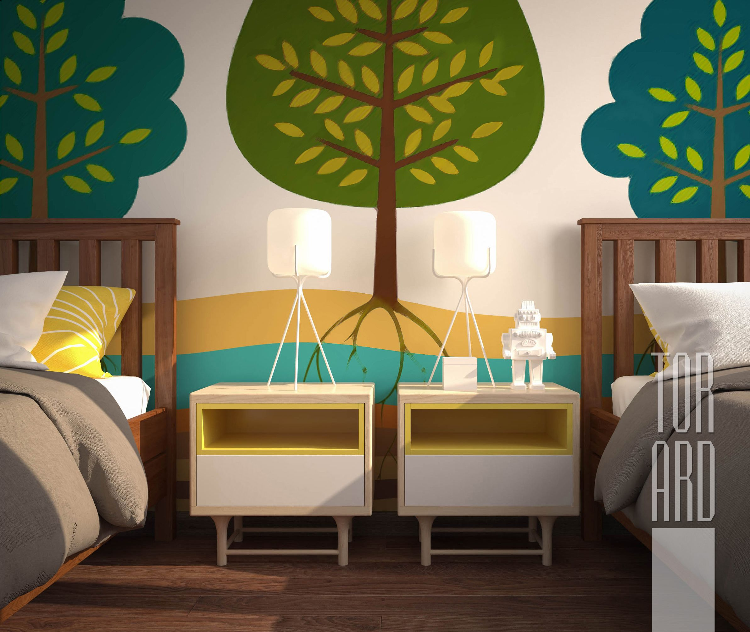 Apartments In Moscow Interior Design Childrens Room For Two