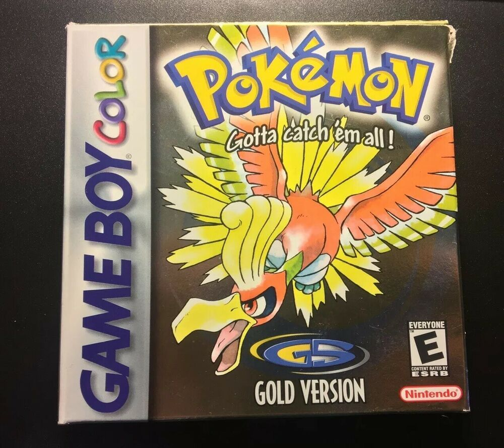 Pokemon Gold Version Nintendo Gameboy Color Complete in