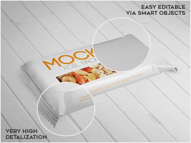 Download 自由箔包装 Psd 样机 Packaging Mockup Foil Packaging Packaging