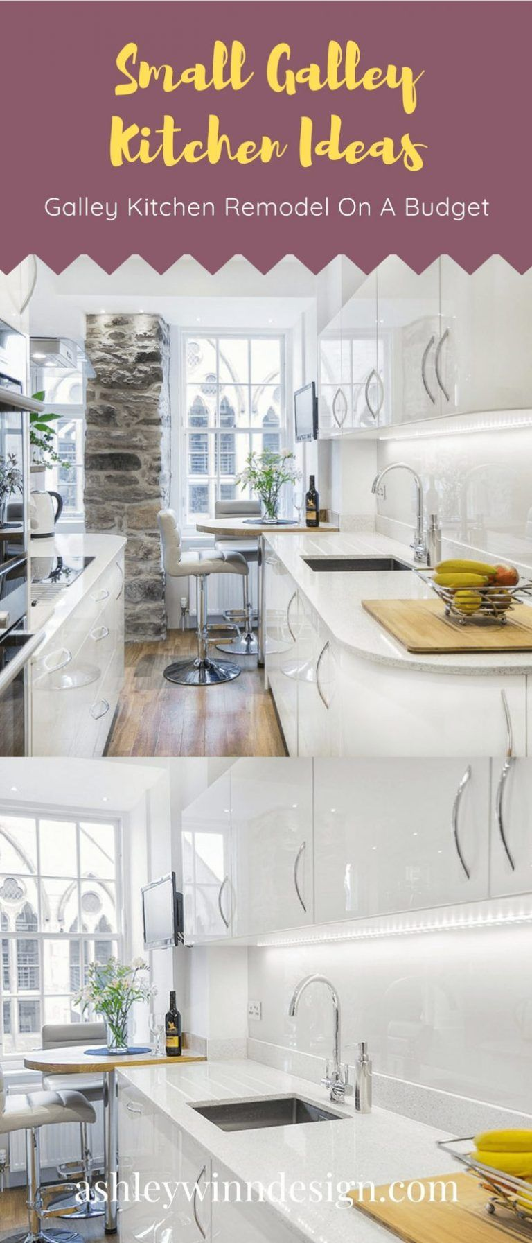29 Awesome Galley Kitchen Remodel Ideas (A Guide to Makeover Your Kitchen) #whitegalleykitchens