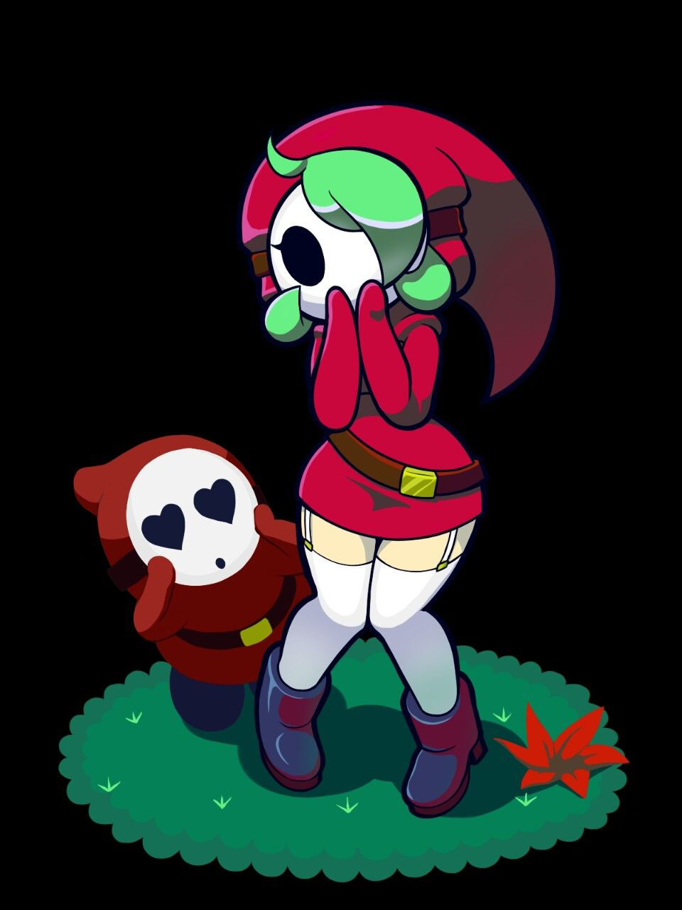 Shy guy girl