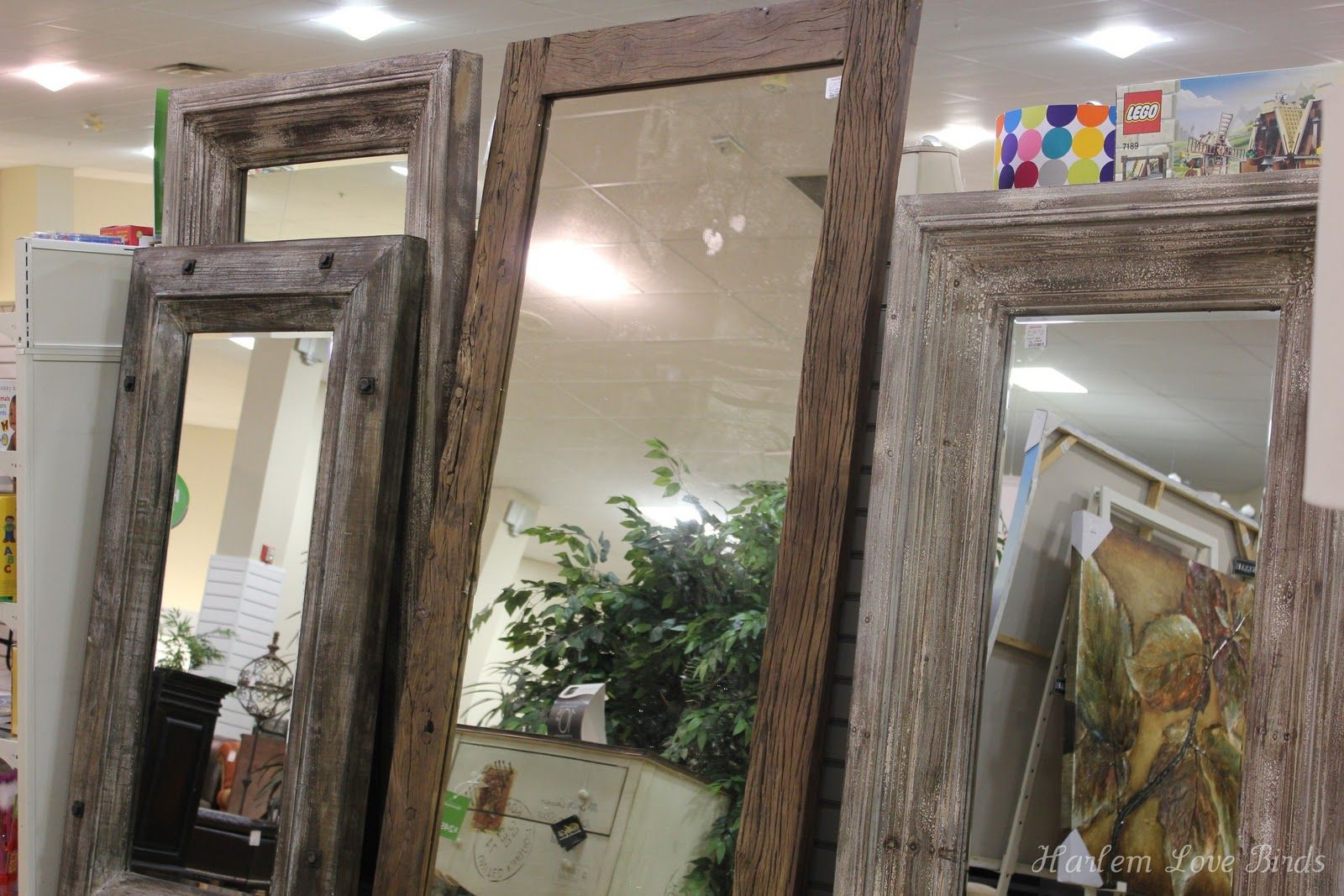 Harlem Love Birds Floor Length Mirrors Rustic Wood Floor Length Mirrors Home Home Goods