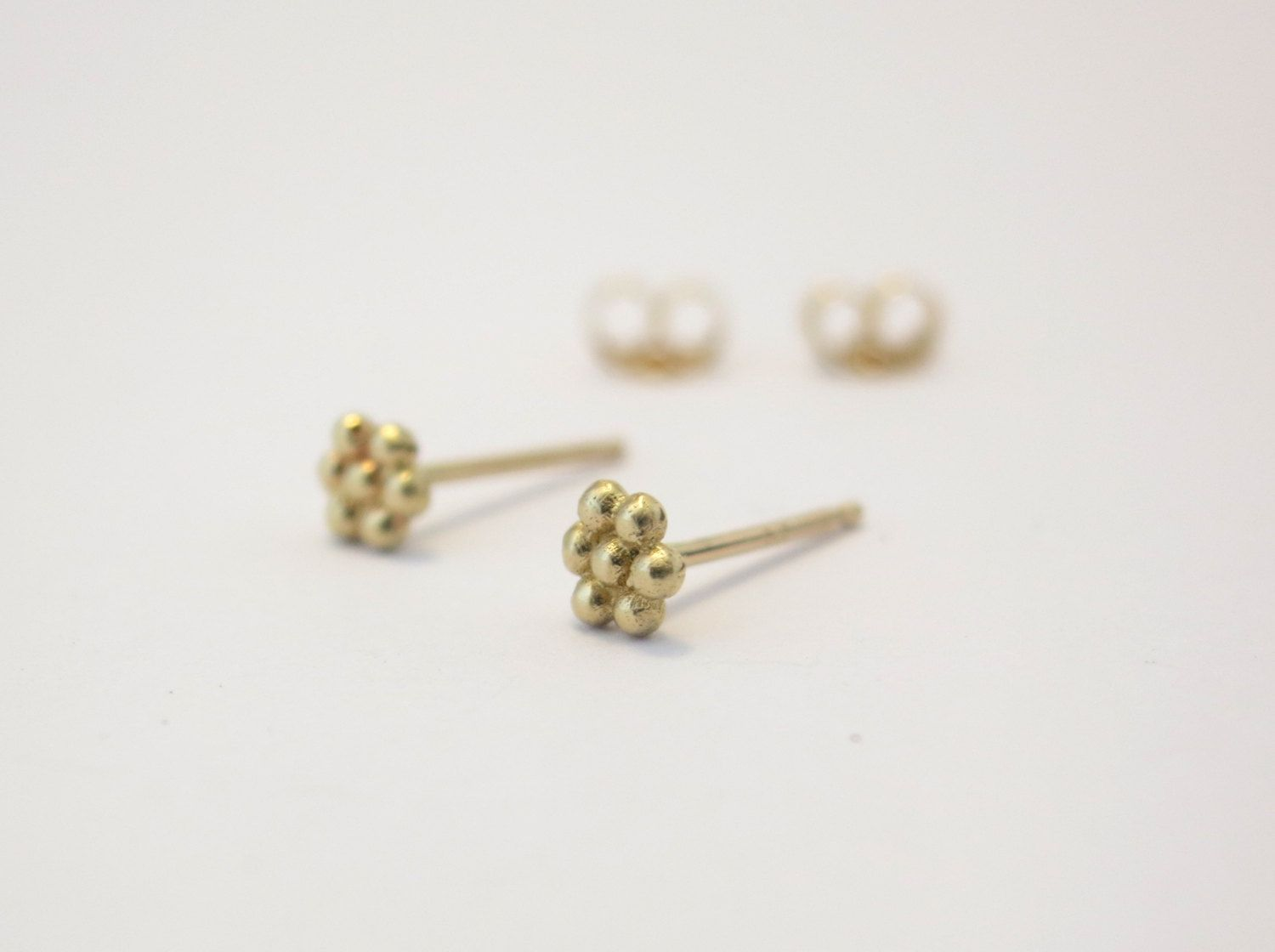 simple posts round tiny gold pin small earrings dot post pebble earring stud