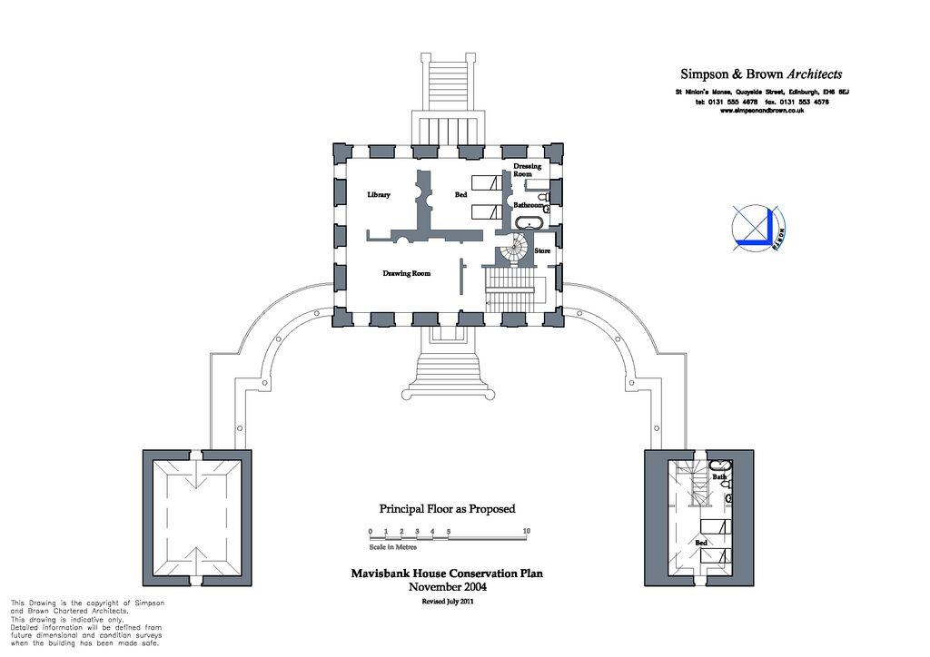 Proposed Principal Floor Plan 2011 Revision Of A 2004 Drawing From The Mavisbank House Conservation Plan For Mor Vintage House Plans How To Plan Floor Plans