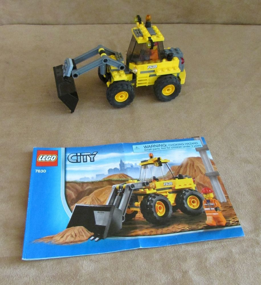 7630 lego city complete construction front end loader instructions