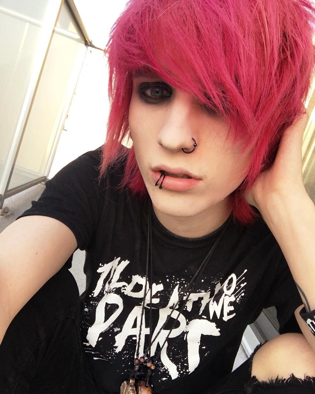 He looks so good with red hair | Cute emo boys, Scene guys, Cute emo