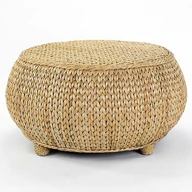 Basket And Seagrass Inspired Hassock Ottoman Mainly