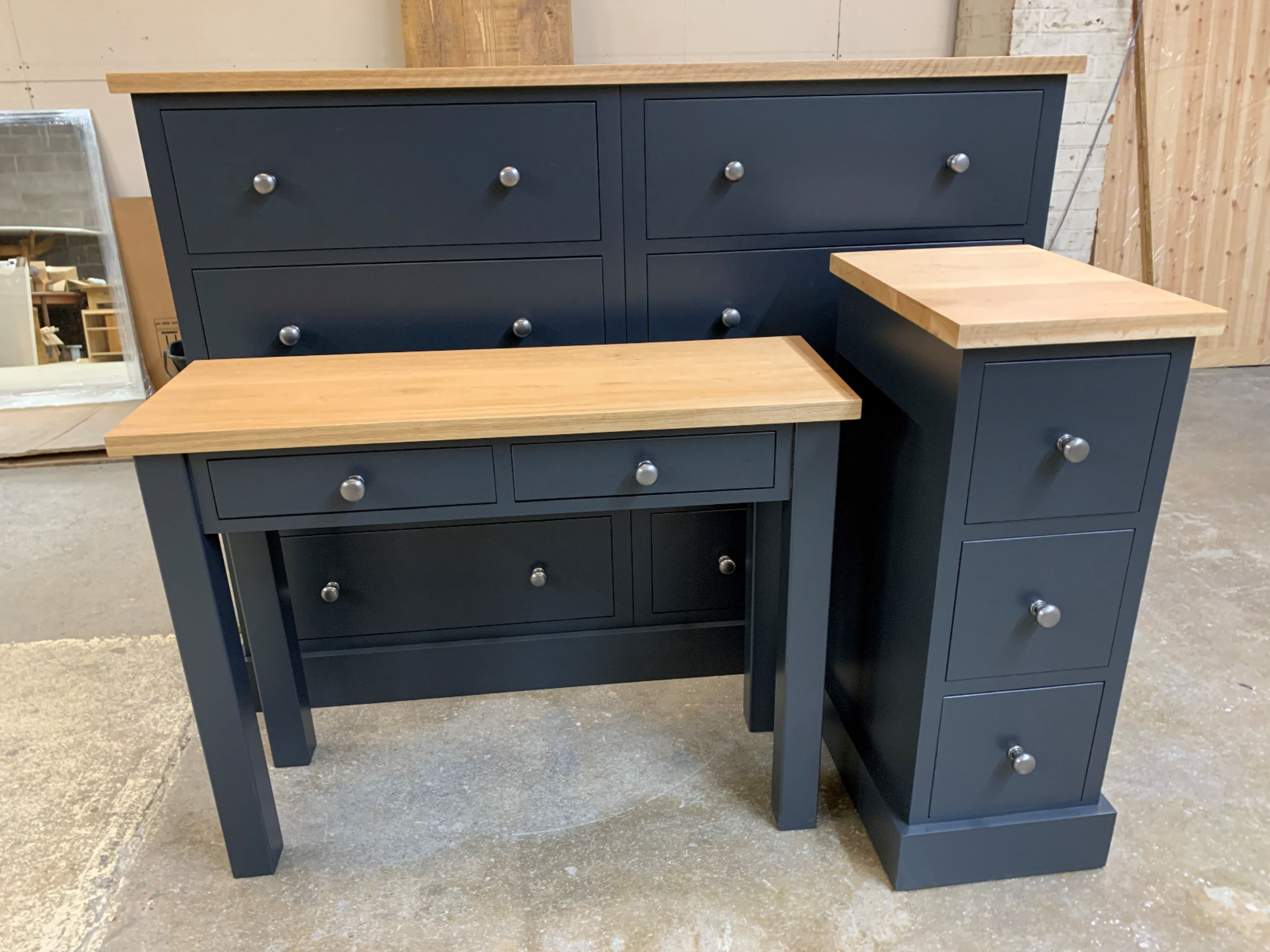Bespoke And Made To Order Bedroom Furniture Painted In Any Colour With Solid Oak Tops Get In Touch For A In 2020 Bedroom Furniture Furniture Painted Bedroom Furniture