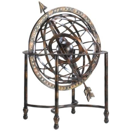 Iron Arrow Decorative Steampunk Globe Lampsplus Com