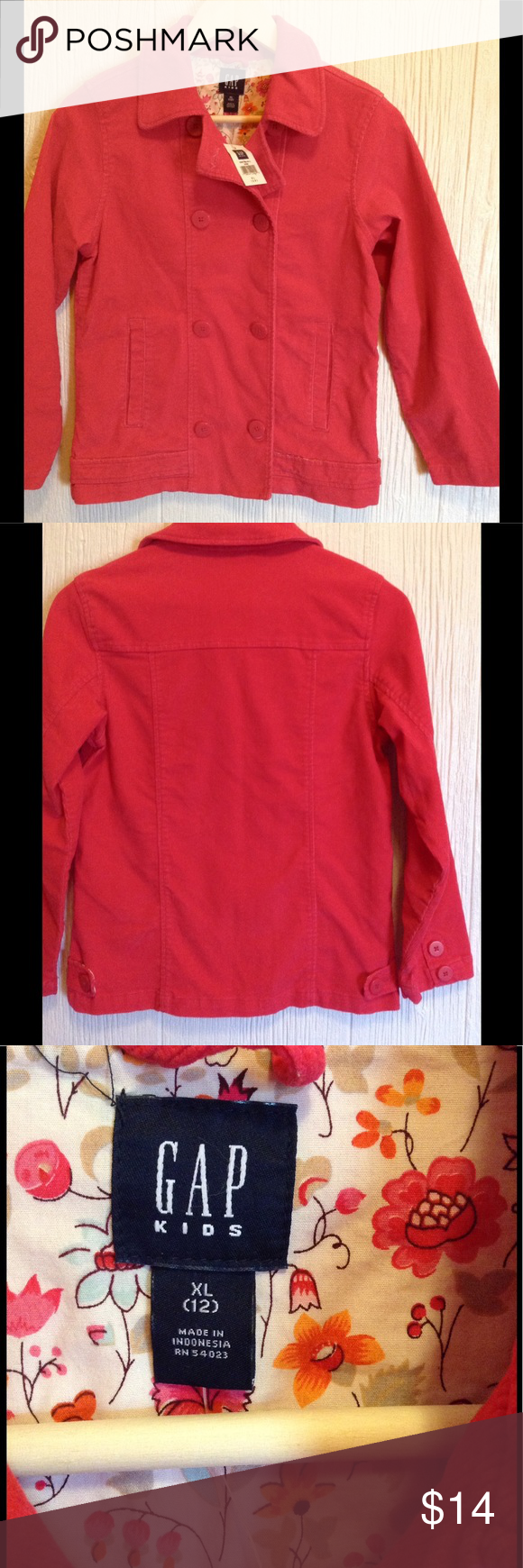 0e64e88fc04a Gap Kids Dark Pink Corduroy Jacket XL 12 NWT s! This is a brand new ...