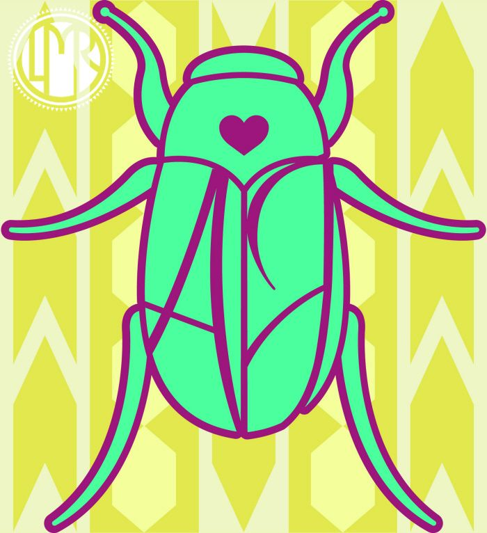 June Bug Exploration and Tattoo Design by Lesley M Rowe