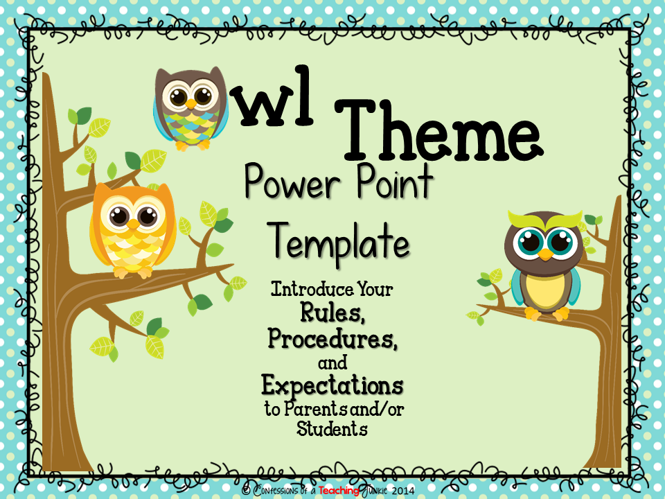 Owl theme parent information night power point template power owl theme parent information night power point template toneelgroepblik Image collections