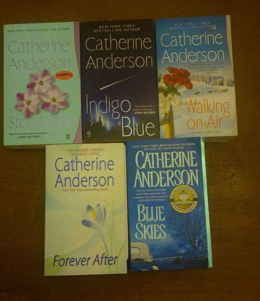 Catherine Anderson 5 Lot Pb Blue Skies Walking On Air Indigo Blue Star  Bright +  Books To Get Lost In  Pinterest  Indigo, Catherine O'hara And  Walking