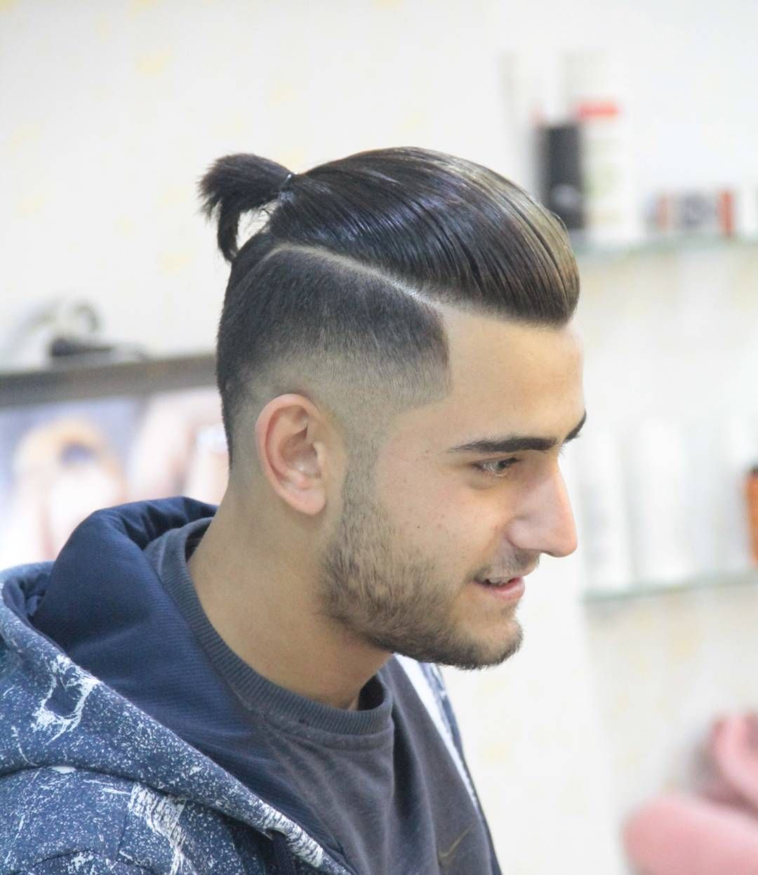 New Man Bun Hairstyle Trend The Low Undercut Man Bun Hairstyle Long Hair Styles Men Man Bun Beard Man Bun Hairstyles