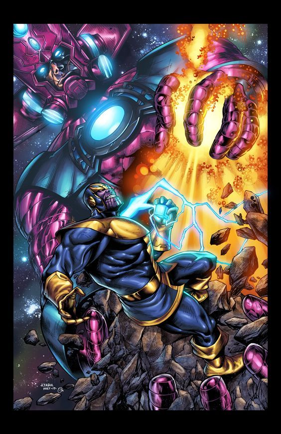 Thanos Vs Galactus Versus Pinterest Marvel Marvel Comics And