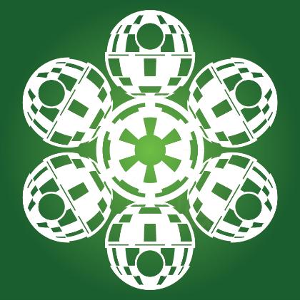 Free Printables Of Star Wars Snowflake Templates  Star Wars