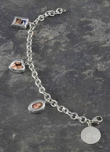Mom's Photo Charm Bracelet - Personalized