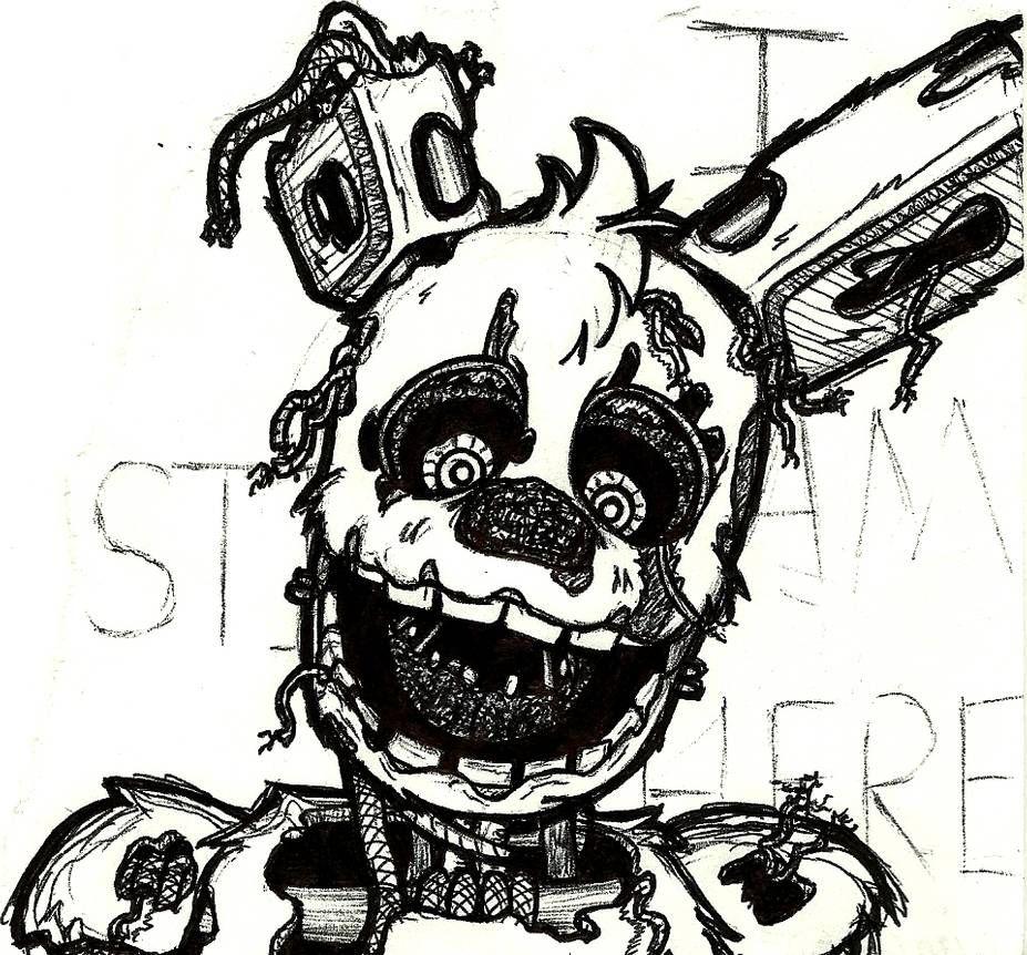 Springtrap Doodle at Work#5 by lilttemiss   Fnaf coloring ...