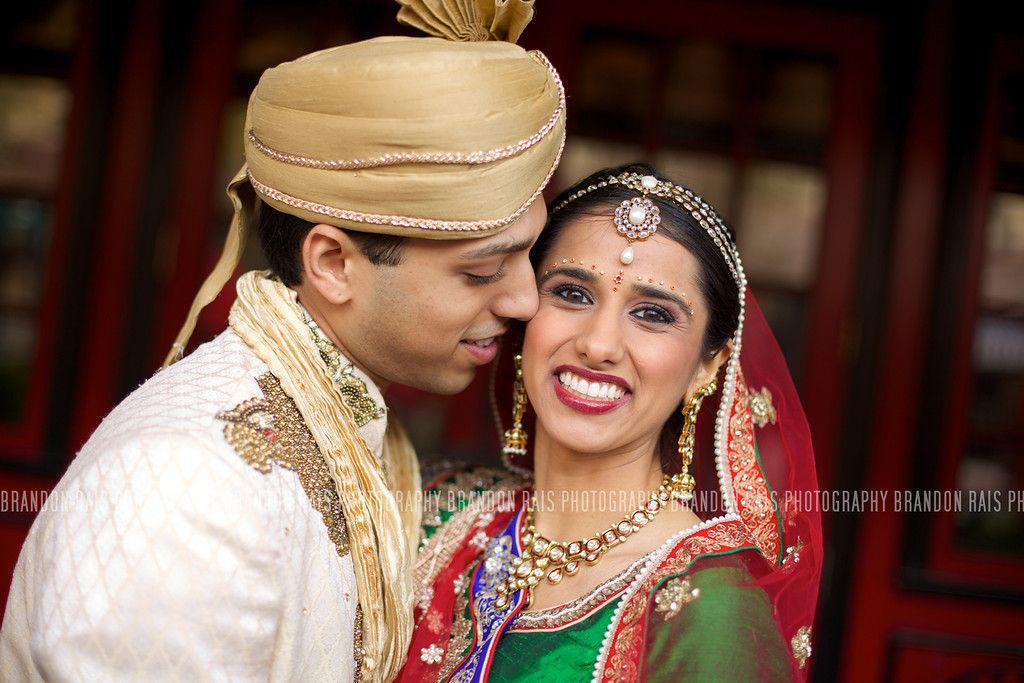 Brandon Rais Photography brandonrais.smugmug.com Indian Wedding green red gold white bride and groom