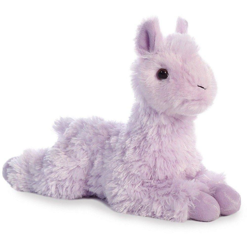 Aurora mini flopsie purple llama 8 stuffed animal teddy