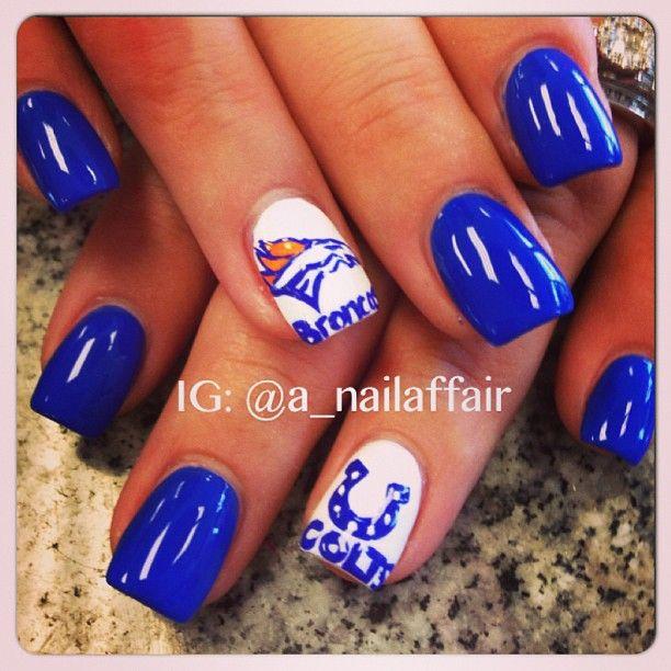 Denver Broncos & Indianapolis Colts by a_nailaffair #nail #nails ...