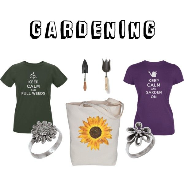 Gardening, it's cheaper than therapy! by oldglory on Polyvore