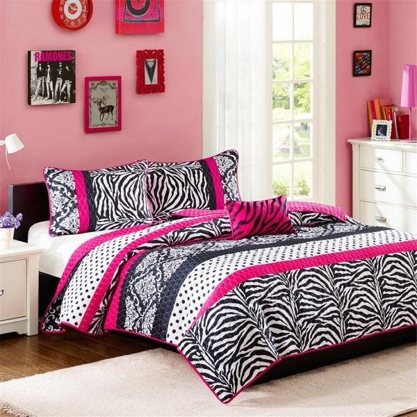 Mizone Reagan Coverlet Set - Pink MZ80-235/6