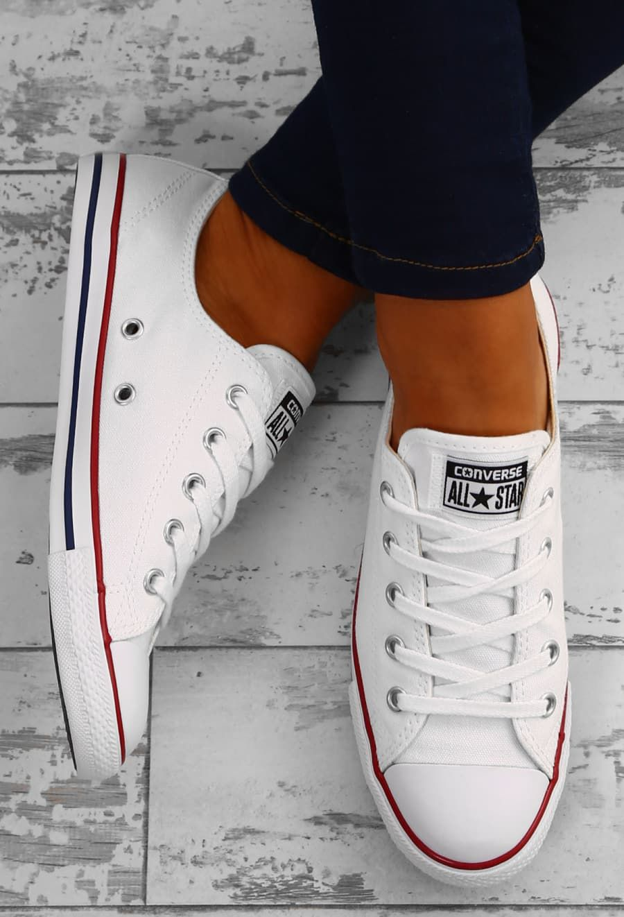 ee1e74f5c883 Chuck Taylor Converse All Star Dainty Ox White Trainers