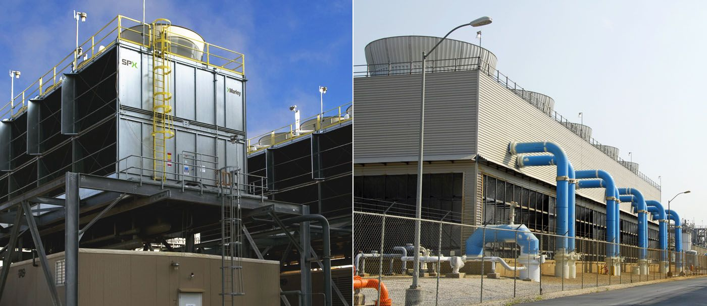Cooling Tower Is A Heat Exchange System That Removes Waste Heat
