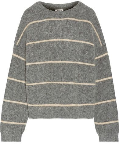 0a1a996ef0d Acne Studios - Rhira Striped Knitted Sweater - Gray  affiliate link ...