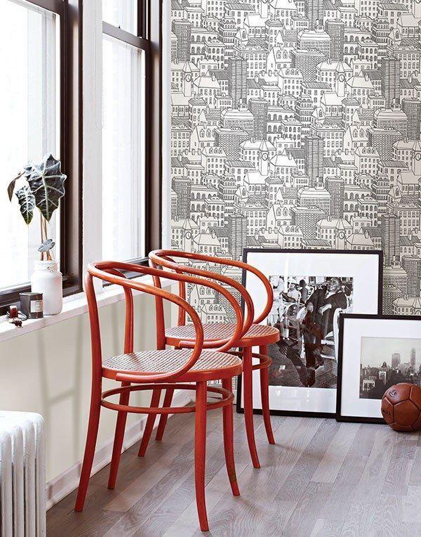 Metropolis L And Stick Wallpaper