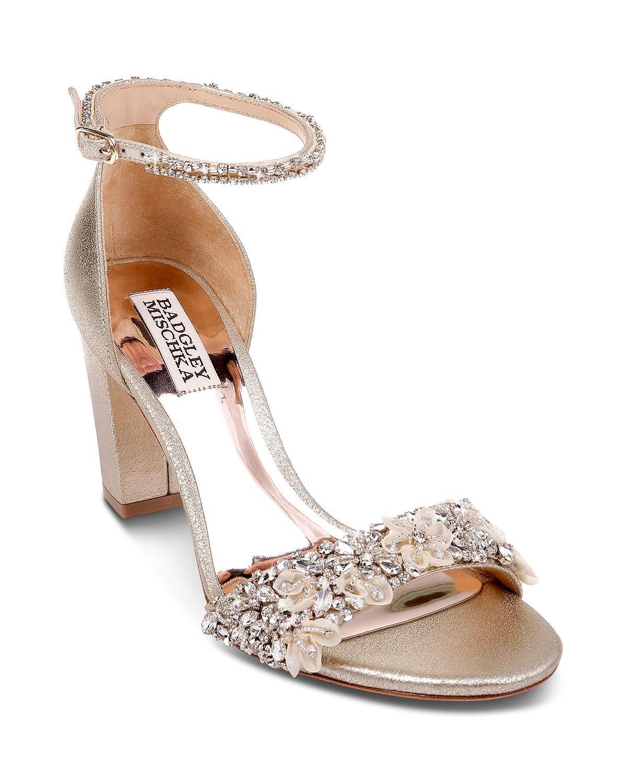 105376abfd3 Badgley Mischka - Women s Finesse II Embellished Block Heel Sandals