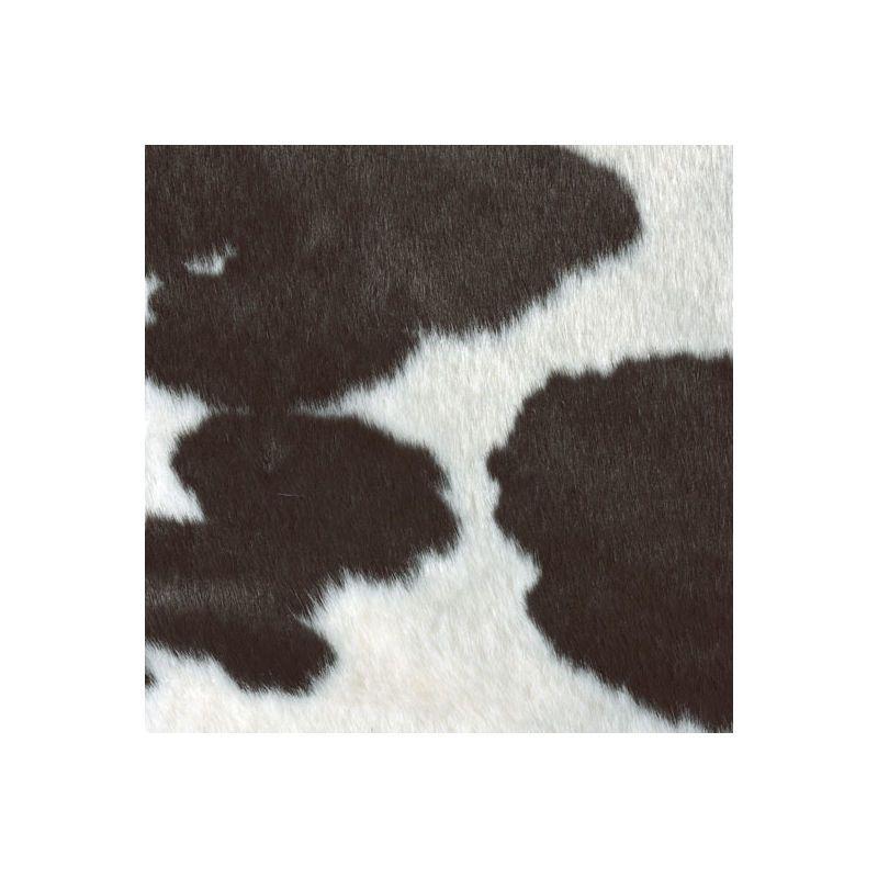 Tapis Peau De Bete Imitation Vache Holstein Noir Et