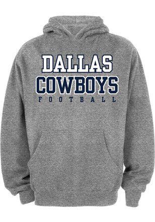 bd71f3936 Cowboys Kids Grey Practice Hooded Sweatshirt | NFL - Dallas Cowboys ...