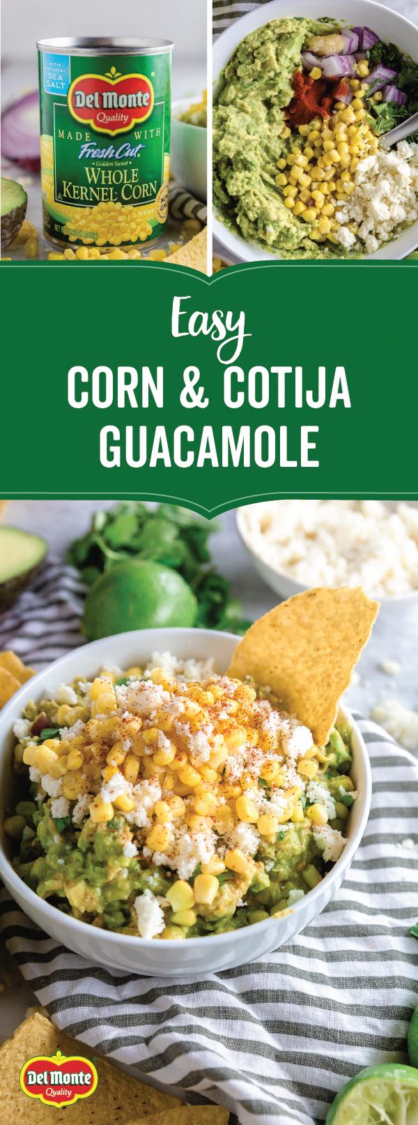 Corn and Cotija Guacamole - Gluten-Free
