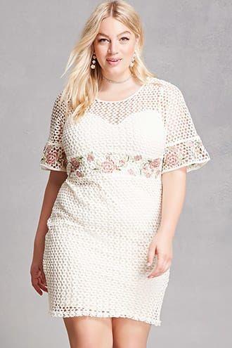 a406c97806 Plus Size New Arrivals. Soieblu Floral Crochet Dress