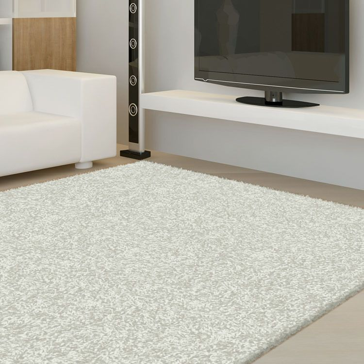 Deluxe 8206 Light Grey Shaggy Rugs Express Online Rug Australia
