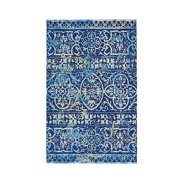john f. by Feizy Hydra Easy Care Accent Rug - Azure ($88) ❤ liked on Polyvore featuring home, rugs, blue, feizy rugs, blue rugs, blue area rugs and pattern rug