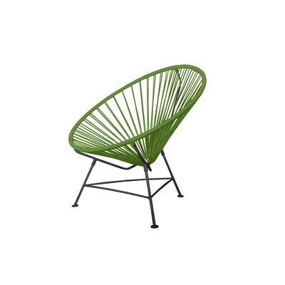 Innit Papasan Patio Chair Finish Black Upholstery Cactus