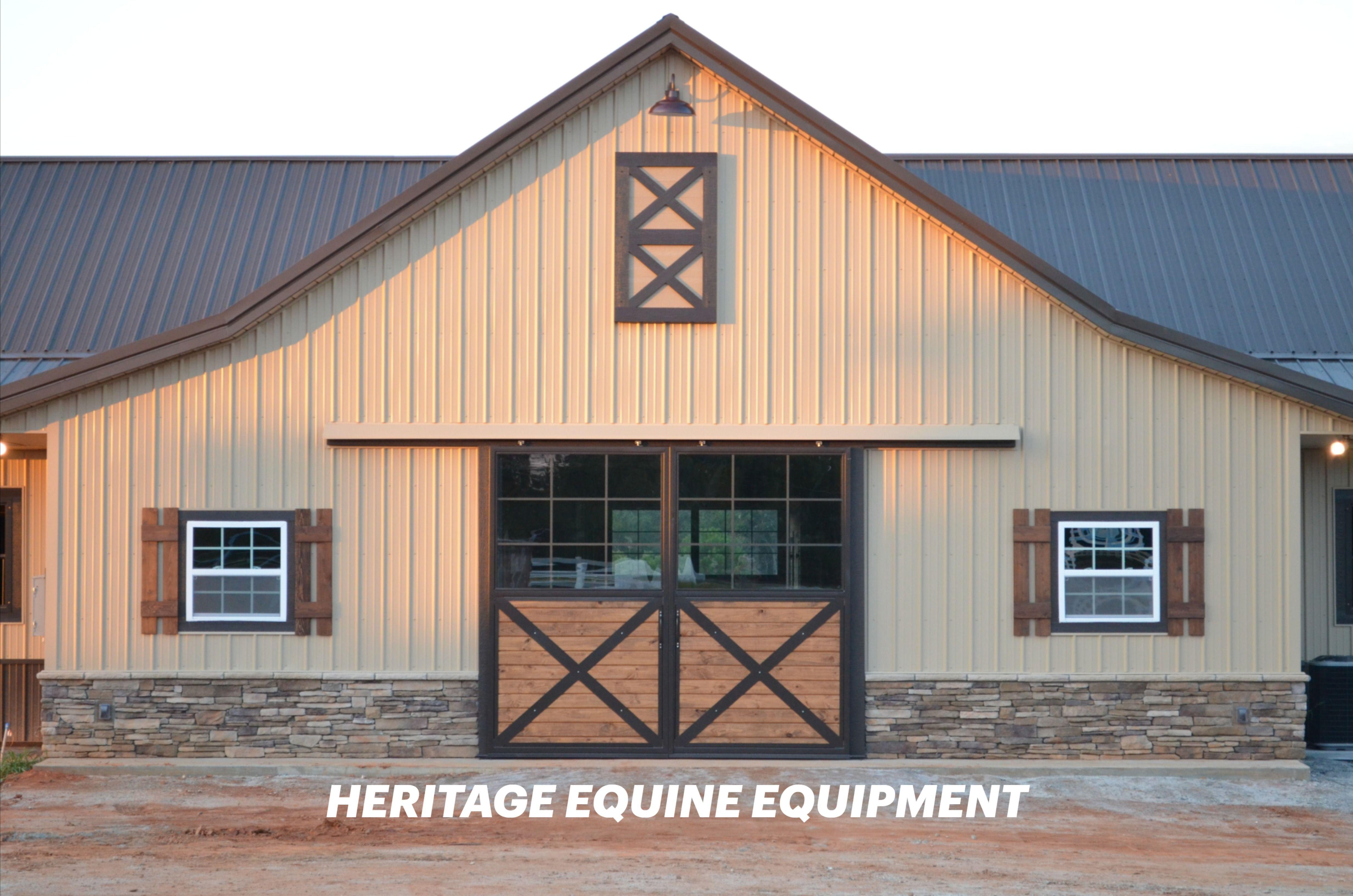 Barn End Doors By Heritage Equine Equipment In 2020 Barn Equipment Dutch Door Barn