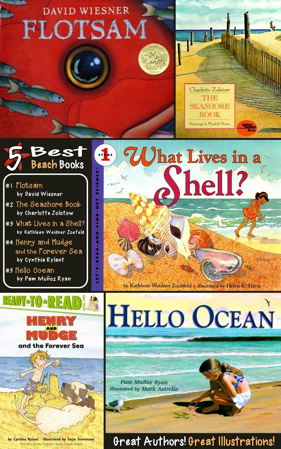 Best Beach Books For Kids... Great For A Week-long Beach