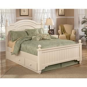 Signature Design by Ashley Cottage Retreat Full Poster Bed with Underbed Storage - B213-57N+54N+89N+70