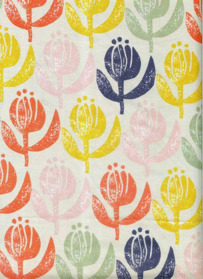 Stone Flowers cotton fabric