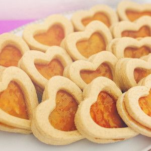 Gourmet Apricot Nutmeg Cookies by Diamond Excellence Weddings & Other Finer Events | 2014 Valentine's Day Style Shoot in Radiant Orchid & Gold