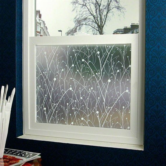 Willow designer glass window frosted decorative privacy film 36 x 48 inclouds