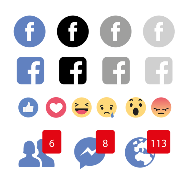 social media icon set network share business app like web sign digital technology collection linked phone comment colour symbol online sổ tay social media icon set network
