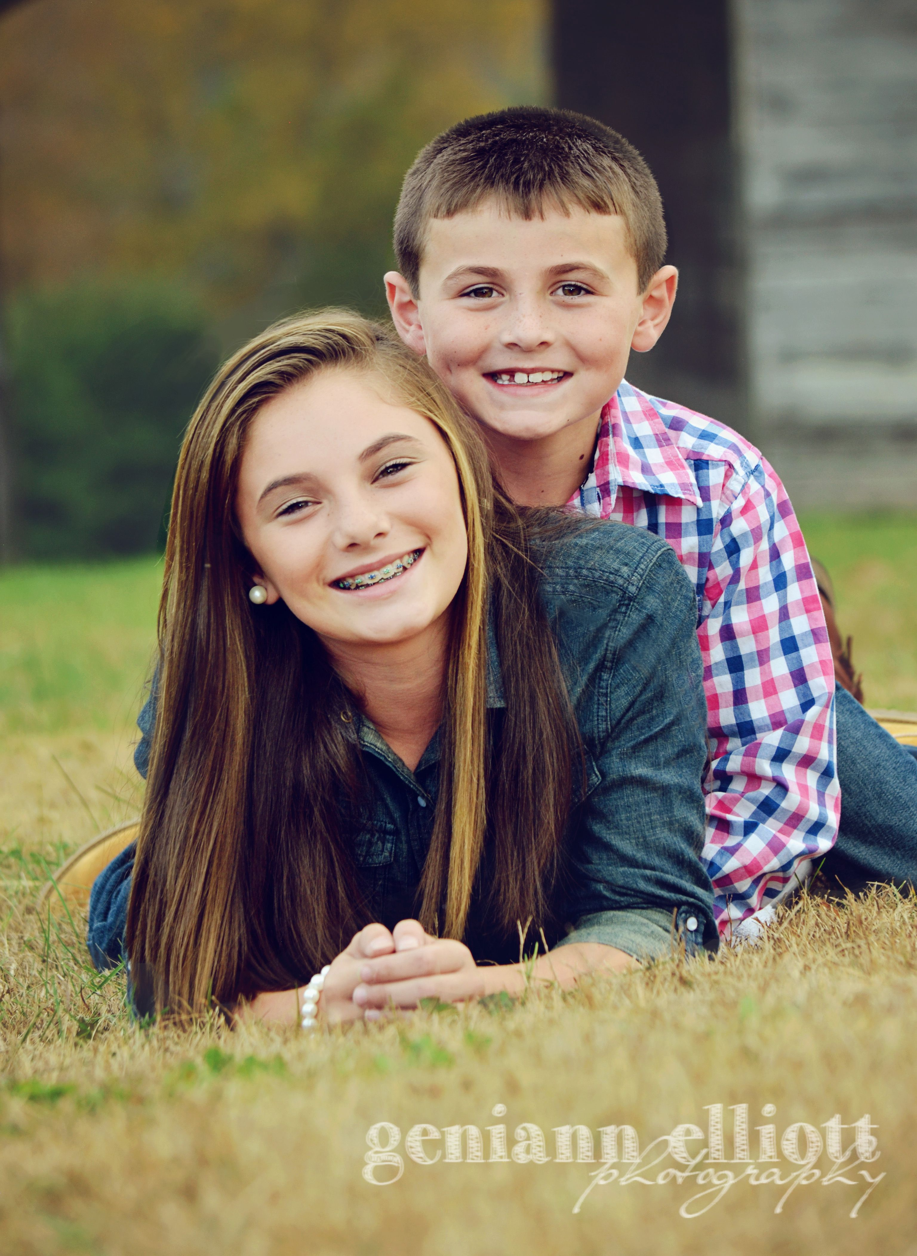 Cute Sibling Pose Posing Kids Fun Pose Children Sibling Photography Big Sister Little Brother Brother Sister Duo Wake Forest Nc