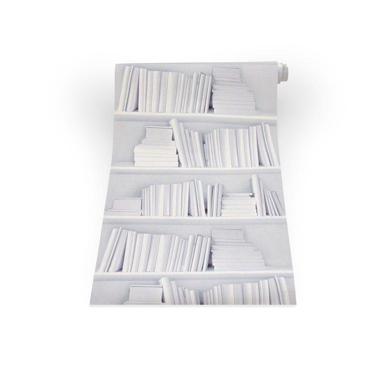 White bookshelf wallpaper Scaffali bianchi, Mensola