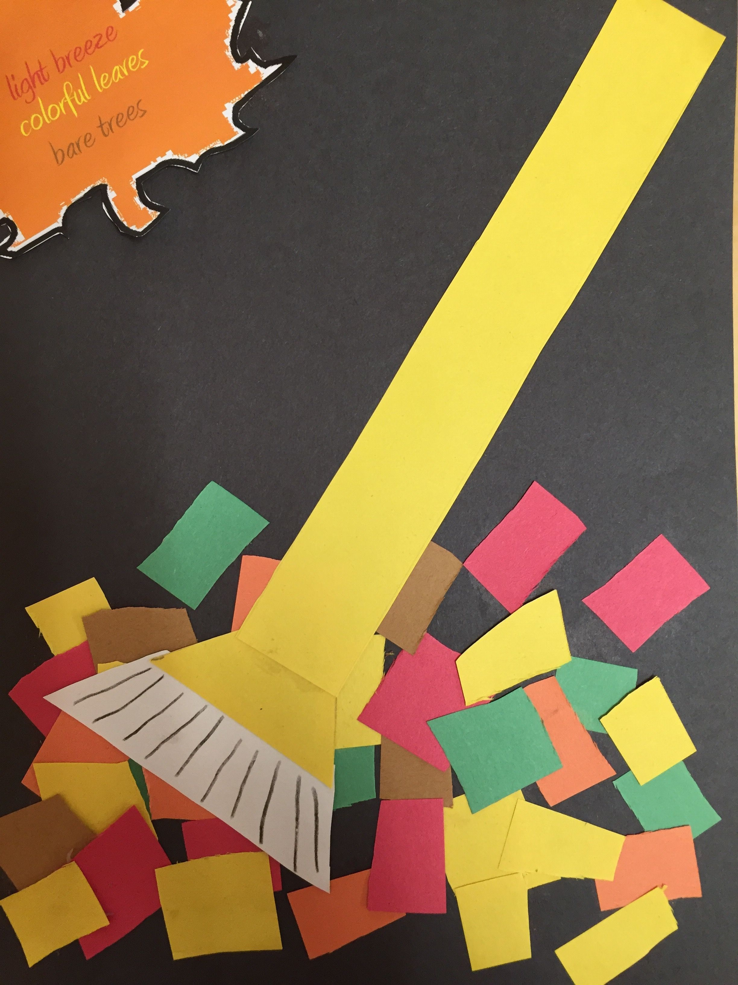 construction paper / raking leaves cut out and paste | arts and